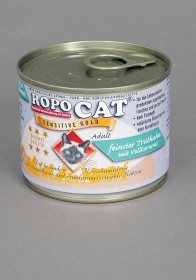 Ropo Cat Sensitive Gold -  feinster Truthahn mit Vollkornreis 200 g