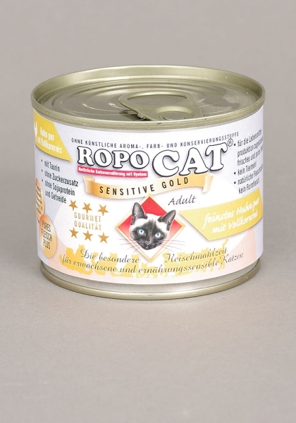 Ropo Cat Sensitive Gold -  feinstes Huhn pur 200 g