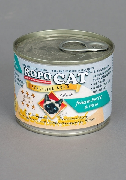 Ropo Cat Sensitive Gold -  feinste Ente mit Hirse 200 g